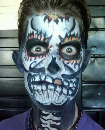 day of dead skull face paint. Day of the Dead Skull