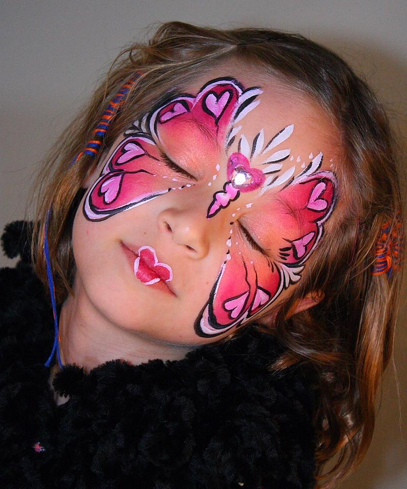 Rainbow Heart Face Painting